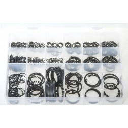 "Assorted ""MAX"" Box of Circlips - Internal & External - Metric - 340 Pieces"