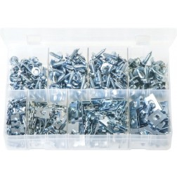 Assorted Box of Sheet Metal Screws & J-Nuts - 350 Pieces