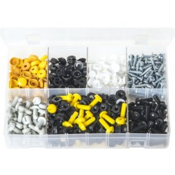 Assorted Box of Number Plate Fasteners - 240 Pairs