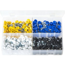 Assorted Box of Security Number Plate Fasteners - 200 Pieces