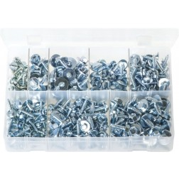 Assorted Box of Sheet Metal Screws with Captive Washers - 300 Pieces