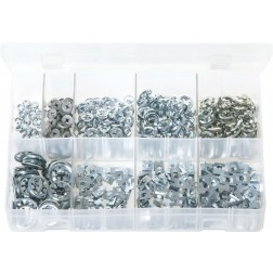 Assorted Box of Flat Clips (Push-on Fixes) - 1000 Pieces