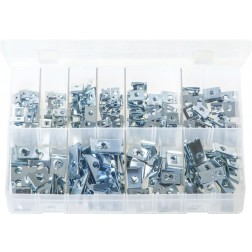 Assorted Box of U-Nuts (Speed Fasteners) - 200 Pieces