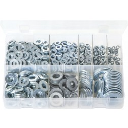 Assorted Box of Flat Washers 'Form A' - Metric - 800 Pieces