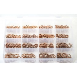 "Assorted ""MAX"" Box of Copper Sealing Washers - Metric - 1050 Pieces"