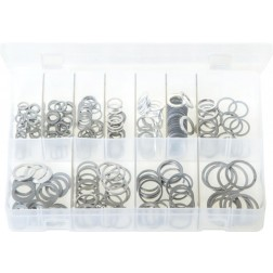 Assorted Box of Aluminium Washers - Metric - 260 Pieces