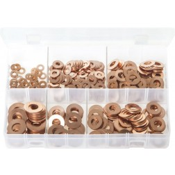 Assorted Box of Copper Washers - Imperial - 400 Pieces
