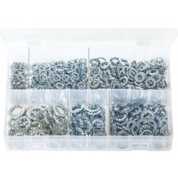 Assorted Box of Lock Washers - Serrated - Internal - 800 Pieces