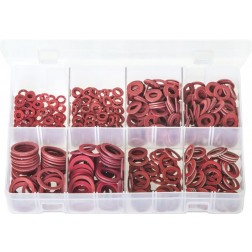 Assorted Box of Fibre Washers - Imperial - 600 Pieces