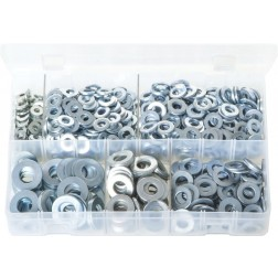 Assorted Box of Flat Washers 'Table 3' - Imperial - 800 Pieces