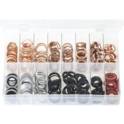 Assorted Box of Sump Plug Washers - 265 Pieces