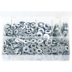 Assorted Box of Flat Washers 'Table 4' - Imperial - 920 Pieces