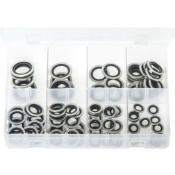 Assorted Box of Bonded Seals (Dowty Washers) - Metric - 90 Pieces