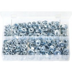 Assorted Box of Serrated Flange Nuts - Metric - 330 Pieces