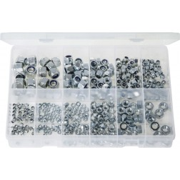 "Assorted ""MAX"" Box of Steel Nuts & Nylon Lock Nuts - 400 Pieces"