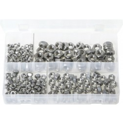 Assorted Box of Stainless Steel Nuts - Metric - 250 Pieces