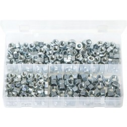 Assorted Box of Steel Nuts - UNC - 350 Pieces