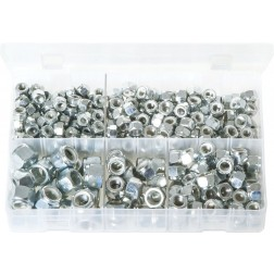 Assorted Box of Nylon Lock Nuts - UNF - 290 Pieces