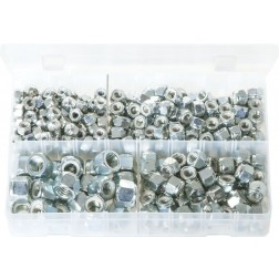 Assorted Box of Nylon Lock Nuts - UNC - 275 Pieces
