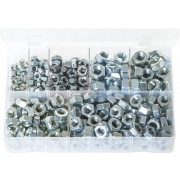 Assorted Box of Steel Nuts - Metric Fine - 350 Pieces