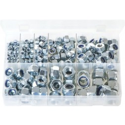 Assorted Box of Nylon Lock Nuts - Metric - 275 Pieces