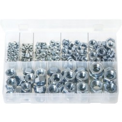 Assorted Box of Steel Nuts - Metric - 275 Pieces