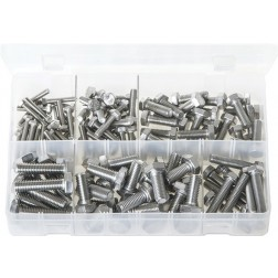 Assorted Box of Stainless Steel Set Screws - Metric - 120 Pieces