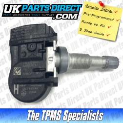 Continental TPMS Sensor - Genuine Jaguar Part- PRE-CODED - Ready to Fit - 433Mhz