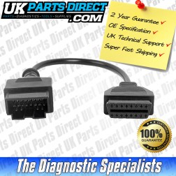 Kia Diagnostic Cable - 20 to 16 Pin Diagnostic Tool Adapter Lead