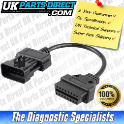 Vauxhall Diagnostic Cable - 5 to 16 Pin OBD2 Diagnostic Tool Adapter Lead