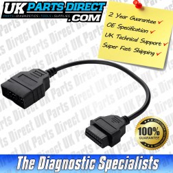 Toyota Diagnostic Cable - 22 to 16 Pin OBD2 Diagnostic Tool Adapter Lead