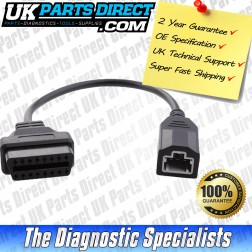 Honda Diagnostic Cable - 3 to 16 Pin OBD2 Diagnostic Tool Adapter Lead