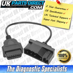 Ford Diagnostic Cable - 7 to 16 Pin OBD2 Diagnostic Tool Adapter Lead