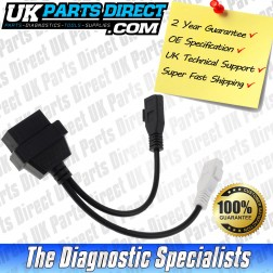 Audi Diagnostic Cable - 2+2 to 16 Pin OBD2 Diagnostic Tool Adapter Lead