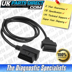 Mazda Diagnostic Cable - 17 to 16 Pin OBD2 Diagnostic Tool Adapter Lead