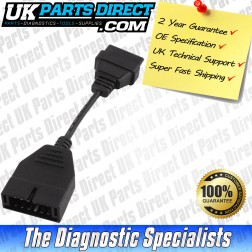 Mitsubishi Diagnostic Cable - 12 to 16 Pin OBD2 Diagnostic Tool Adapter Lead