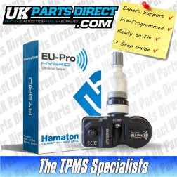 Abarth 81 Nuova Punto (10-15) TPMS Tyre Pressure Sensor - PRE-CODED - Ready to Fit - 53104671