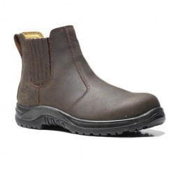 V12 Safety Boots - Brown - Size 8