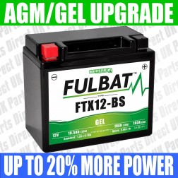 Aprilia Atlantic 300 (2013->) FULBAT GEL UPGRADE BATTERY - YTX12 - FTX12