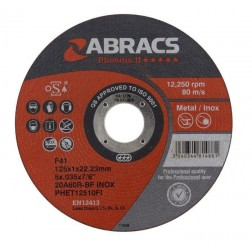 Abracs 115mm Cutting Discs Qty.10