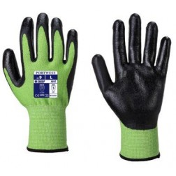 Green Cut Resistant Gloves Large