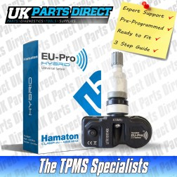 Peugeot Bipper (07-18) TPMS Tyre Pressure Sensor - PRE-CODED - Ready to Fit - 53104671