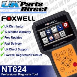 Foxwell NT624 Full System - All Makes Professional Diagnostic Scan Tool - **LATEST 2018 SERIES TOOL**