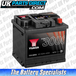 Yuasa High Performance 012 Car Battery - YBX3012 - 3 YEAR GUARANTEE