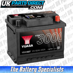 Yuasa High Performance 027 Car Battery - YBX3027 - 3 YEAR GUARANTEE