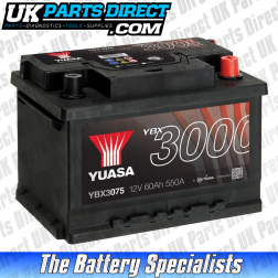 Yuasa High Performance 075 Car Battery - YBX3075 - 3 YEAR GUARANTEE