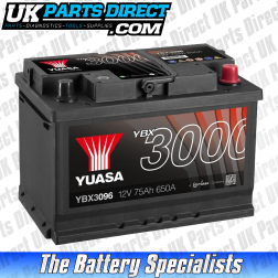 Yuasa High Performance 096 Car Battery - YBX3096 - 3 YEAR GUARANTEE