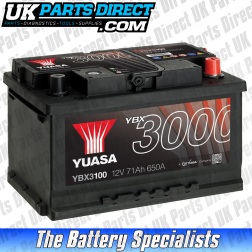 Yuasa High Performance 100 Car Battery - YBX3100 - 3 YEAR GUARANTEE