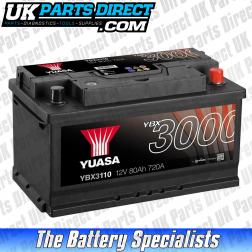 Yuasa High Performance 110 Car Battery - YBX3110 - 3 YEAR GUARANTEE