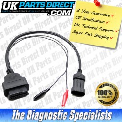 Fiat Diagnostic Cable - 3 to 16 Pin OBD2 Diagnostic Tool Adapter Lead